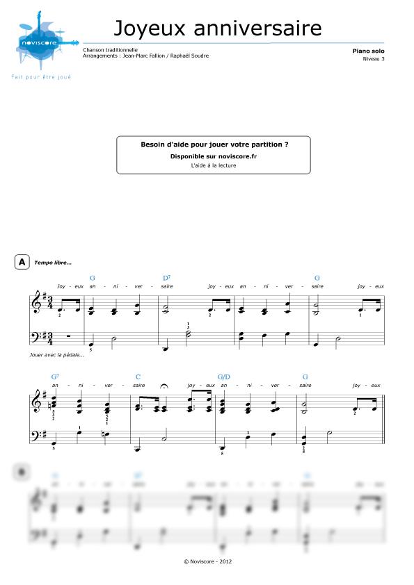 Partitura piano cumplea os feliz chanson pour enfants partituras noviscore - Cumpleanos feliz piano ...